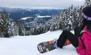 Snowboarding Canada's Whistler Mountain Resort