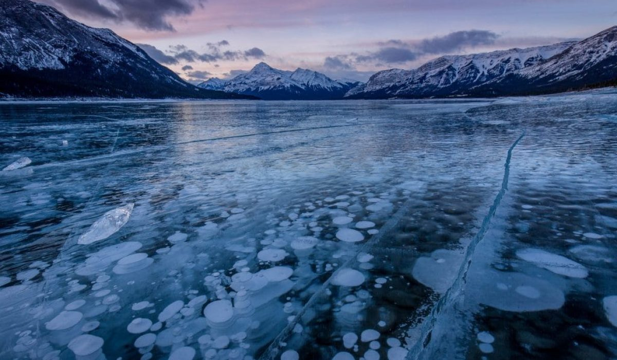 How to Photograph the Frozen Bubbles at Abraham Lake